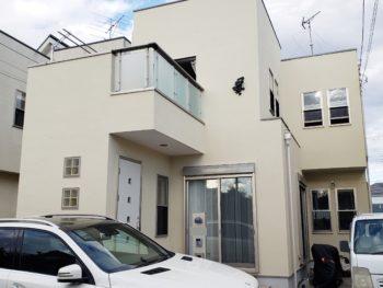 松伏町I様邸外壁塗装屋根コロニアル塗装施工事例